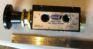 Fabco air Panel Mount Push Button Pull Air Valve Pneumatic 18pmd 4 Usa 4 way