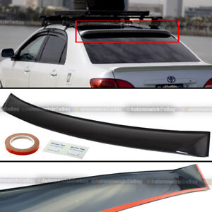 For 09 13 Toyota Corolla Thin Verion Tinted Rear Window Roof Vent Visor Spoiler