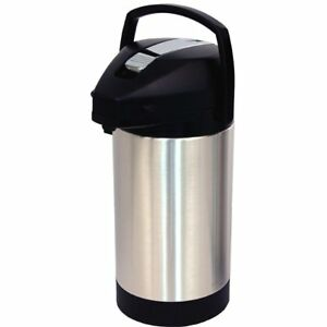 Fetco D041 3 Liter Air Pot Hot Coffee Beverage Airpot Dispenser