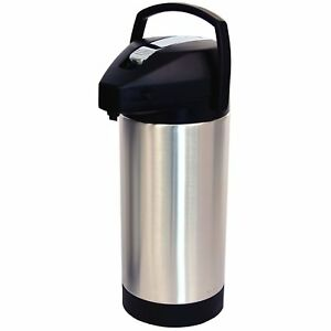 Fetco D063 1 Gallon 3 8 Liter Pump Lever Airpot Hot Coffee Beverage Dispenser