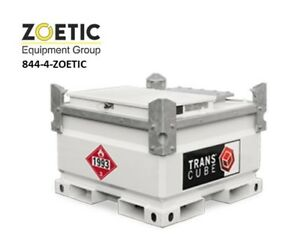 Western Global 05tcg Transcube 132 Gallon Transportable Fuel Storage Tank W pump