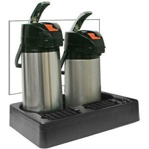 Commercial Two 2 Pot Plastic Airpot Rack Coffee Dispenser Stand Server Papr2
