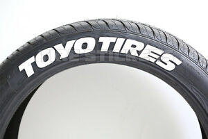 Toyo Tire Stickers 1 75 For 14 15 16 Wheels 4pcs Raised White Lettering