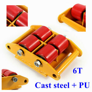 Industrial Machinery Mover Roller Dolly Skate With 360 rotation Cap 13200lbs 6t