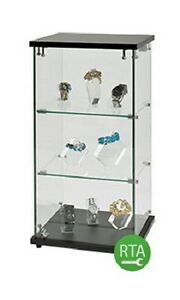 Display Case Clear Countertop 12 W X 14 D X 27 H Jewelry Lock