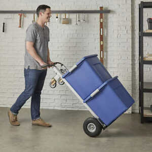 Cosco 3 in 1 Hand Truck assisted Hand Truck cart With Flat free Wheels