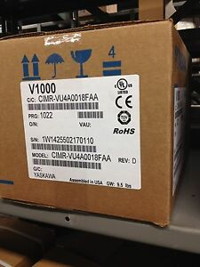 Yaskawa 10hp 17 5 Amps V1000 Vfd Cimr vu4a0018faa Variable Frequency Drive Nib