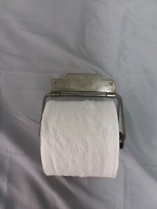 Antique Nickel Brass Toilet Tissue Paper Holder Roller Vintage 122 18f