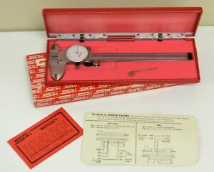 Vintage Spi Peacock 6 Dial Calipers 20 431 3 With Red Case And Instructions
