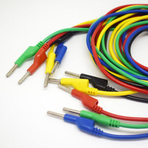 4set 5color 1 5m 5ft Silicone High Voltage Dual 4mm Banana Plug Test Leads Cable