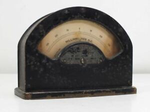 W u Tel Co 1 a 264 Milliamperes Dc Volt Meter Vintage As Is