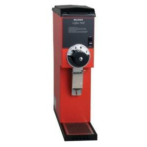 Bunn 22100 0001 G3 Hd 3 Lb Red Bulk Retail Shop Coffee Grinder 120v