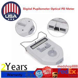 Digital Pupilometer Optical Pd Meter Led Light Focusing Distance Adjustable New