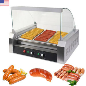 1650w Commercial 30 Hot Dog Machine 11 Roller Stainless Steel Cooker Machine