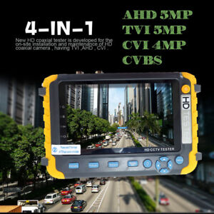 4in1 5mp Tester Monitor Tvi Cvi Ahd Vga Cvbs Security Cctv Camera Tester 5inch