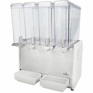 Crathco Mini quad E49 4 Quadruple 2 4 Gallon Bowl Cold Beverage Dispenser