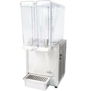 Crathco Mini twin E 293 Double 2 4 Gallon Bowl Cold Beverage Dispenser