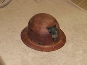 Vintage Msa Skullgard Full Brim Helmet Hard Hat Mining Civil Defense