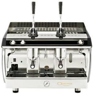 Astoria Gloria Lever Piston Al2 Manual 2 Group Espresso Machine Black 110v 4400