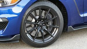 4 Genuine Ford Mustang Gt350 Black Wheels Tires Rims Oem Factory Michelin