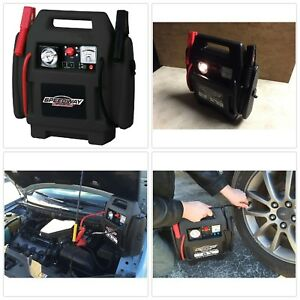 Jump Start Battery Dead Car Emergency Compressor Tire Recharge Flat Air Portable