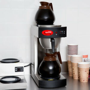 12 Cup Commercial Coffee Maker Brews 56 Cups 3 5 Gal Per Hr With 2 Warmers 120v