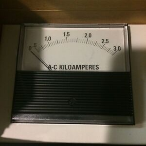 Cle8 a4a3kl Panel Meter 0 3000 Ac Amperes 800v Peak To Ground