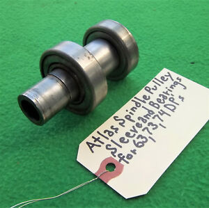 Vintage Atlas Drill Press Spindle Pulley Sleeve And Bearings For 63 6 Pulley