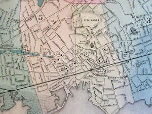 Lynn Glenmere Wyoma Village Lakewood Essex County Mass 1872 Detailed Old Map
