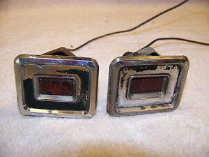 1968 Chrysler Imperial Red Side Turn Signal Indicators Lebaron Crown Coupe