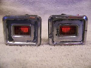 1968 Chrysler Imperial Side Marker Lights Red Pair Lebaron Crown Coupe