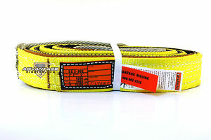 Ee2 902 X8ft Cut Slip Resistant Nylon Lifting Sling Strap 2 Inch 2 Ply 8 Foot