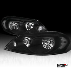 2006 2013 Chevy Impala 2006 2007 Monte Carlo Euro Crystal Black Headlights Pair
