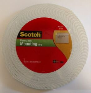 Scotch Double Sided Permanent Mounting Tape 3 4 In X 38 Yd 114 Feet