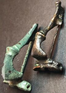Lot Of 2 X Ancient Imperial Roman Fibula Brooches Superb 2nd Century Artefacts