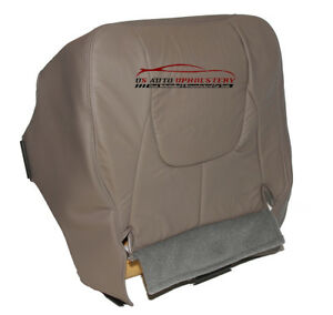 2003 Dodge Ram 1500 Driver Side Bottom Synthetic Leather Seat Cover Taupe Gray
