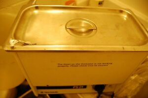 Fisher Fs21 Ultrasonic Cleaner Water Bath Sonic Dental Ss Stainless Steel