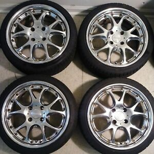 17 Ssr Agle Strusse 4x114 3 Jdm Wheels Rare Imported Multiple Piece Rims Vip