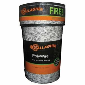 New Gallagher Electric Polywire Fence Combo Roll 1312 feet 328 Extra