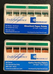 Brasseler Endosequence Gutta percha Paper Points Lot Iso Size 35 04 Unopened