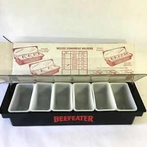 Beefeater London Dry Gin Condiment Fruit Holder 6 Pint Containers Lid Bar Party