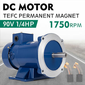 Dc Motor 1 4hp 56c Frame 90v 1750rpm Tefc Magnet Continuous Permanent Dominate