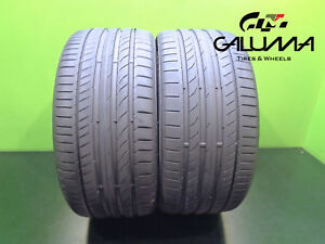 2 Nice Continental Tires 255 35 19 Contisportcontact 5p 96y Oem Audi 46548