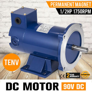 Dc Motor 1 2hp 56c Frame 90v 1750rpm Tenv Magnet Permanent Grease Smooth