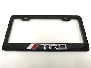 3d trd Handmade Real Carbon Fiber License Plate Frame Tag Cover 3k Twill