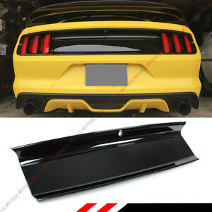 For 2015 18 Ford Mustang Gloss Blk Emblem Delete Trunk Decklid Panel Trim Cover