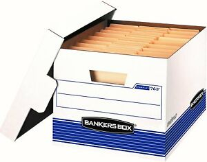 Bankers Box File Medium duty Storage Lift off Lid Letter legal 20 Pack 0076315