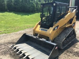 Cat 257b2 Compact Track Loader Skid Steer 877 Hrs Cab ac quick Attach