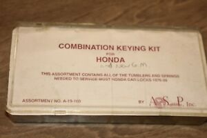 Asp Combination Keying Kit For Honda A 19 100 e6