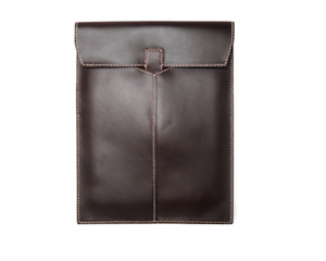 File Folder Pocket Cow Leather Messenger Bag Briefcase Pouch Handmade Brown Z870
